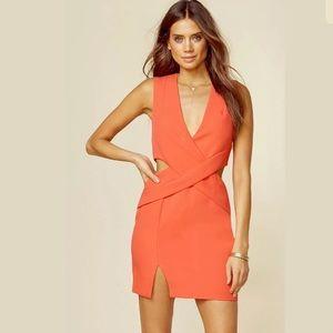 Kendall + Kylie Deep Plunge Cut Out Dress